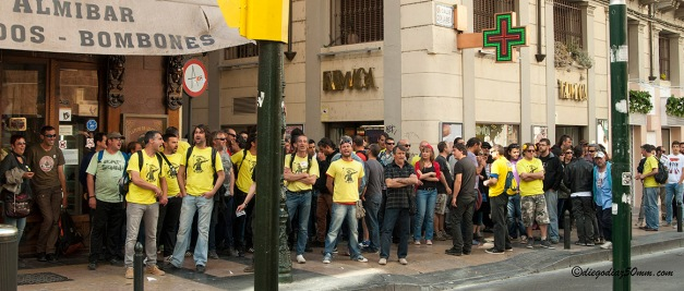 Cgt jardineria aragon escrache de los trabajadores de fcc for Jardineria a domicilio barcelona